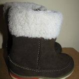 Чоботи брендові зимові теплі Clarks Оригінал р 21 стелька 14 см
