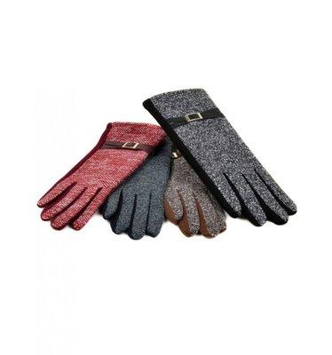Женские перчатки шерсть-стрейч