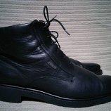 Красивые черные кожаные ботинки LLOYD Gore-Tex. Германия. 42 р.