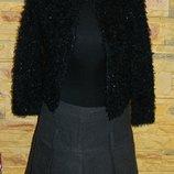Женская черная кофта - травка с паетками р. 42-44 New Look можно на девочку подростка