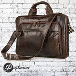 Мужская сумка портфель 100% Натуральная Кожа Boss