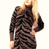 Теплющее шерстяное вязанное платье Новое 48 - 56 размеры