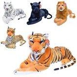Мягкая плюшевая игрушка тигр, леопард, пантера и лев