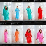 Женский халат длинный плюшевый софт, теплый