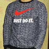 Свитшот - толстовка Nike теплый на флисе , рябой.