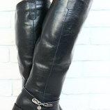 Зимние сапоги женские черные кожа натурал мега классные
