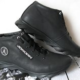 Jordan зимние кроссовки Мужские кросовки натуральная кожа обувь мех
