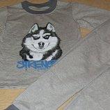 Стильная теплая пижама Волк