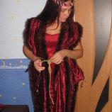 Карнавальное платье накидка Королевы,придворной дамы.взрослое.