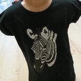 футболка с зеброй. M&S 8-9лет