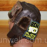 Детская зимняя шапка для мальчиков Бен10, р.48-50, 50-52