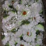 Головки мини маргаритки 60 шт белые цветы