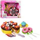 Продукты на липучке, сладости, посуда, свечки, 2вида, в кор-ке, 29-31-9,5см
