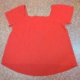 Новая коралловая футболка футболочка стрейчевая фирменная блуза TU 20 р. Румыния , 56 батал