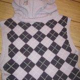 Теплая, женская стрейчевая жилетка-безрукавка с горлом.S-M-L, 44-46-48.