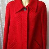 Пальто демисезонное шерсть качество р.52 7322