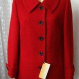 Пальто демисезонное шерсть качество р.52 7326