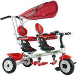 Велосипед для двойни Супер Трёшка 3-х колесный