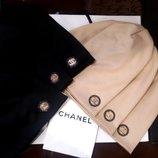 Теплые трикотажные шапочки Chanel на флисе