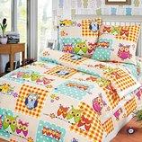 Комплект постельного белья 145х220см Бязь - Совы
