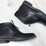 Зимние кожаные ботинки в стиле hilfiger