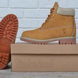 Ботинки зимние кожаные на цигейке Timberland 6 inch Yellow Winter Fur