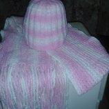 Набор шапка шарф вязаный