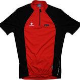 Велосипедка красная черная с карманами отражателем Италия Nalini L S