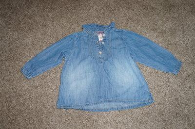 Джинсовая рубашка на 86 см