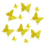 Интерьерные стикеры-наклейки на стену 3-D бабочки