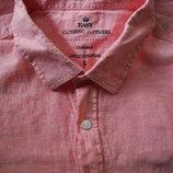 Мужская рубашка безрукавка Лён яркая цветная EASY L M