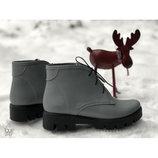 Стильные кожаные ботинки.Зима-весна 2019
