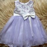Шикарное нарядное платье для принцессы на 1-3 года