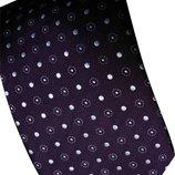 Мужской галстук фиолетовый в горошек в узорчик Tailor&Cutter
