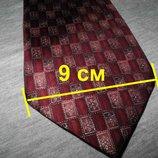 Мужской галстук 100% Шелк красный бардовый Marks&Spencer Italy