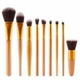 Профессиональный набор кистей для макияжа - 9 кистей на все случаи жизни
