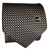 Мужской галстук шелковый широкий в узорчик Crocodile 10 см