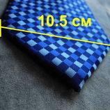 Мужской галстук 100% Шелк в клетку синий Hugo Boss Italy