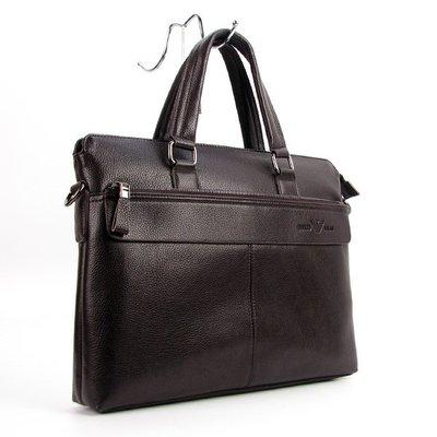 Портфель модерн кожаный кофе Giorgio Armani 6618-3