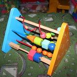 Большая деревянная развивающая игрушка