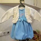 Красивое платье с болеро на 2-3 года