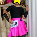 Бейсик для танцев рост 110 122 см 4-7 лет платье для танцев бейзик