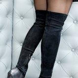 Ботфорты fabi с открытым носком