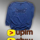 Удобные утепленные свитшоты свободного кроя для женщин L, XL от UPIM Италия