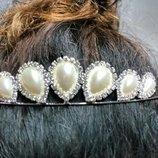 Диадема тиара корона венец гребень гребешок украшение принцесса танцы под костюм на праздник карнава
