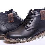 Классические зимние мужские ботинки из натуральной кожи Polo B - 15