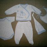 Турецкий комплект набор для новорожденного- 5 вещей, б/у - 1 раз.