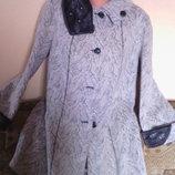 Пальто женское теплое батального размера осень