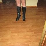 Сапоги чоботи зимові шкіряні 36.5 розмір