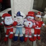 Большие декоративные Дед Мороз, Санта, Олень Новый год декор новогоднее интерьер украшение подарок